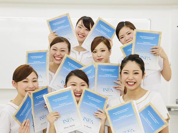 INFA 国際パスポートボディ試験 INFA 国際パスポートフェイシャル試験合格の様子1