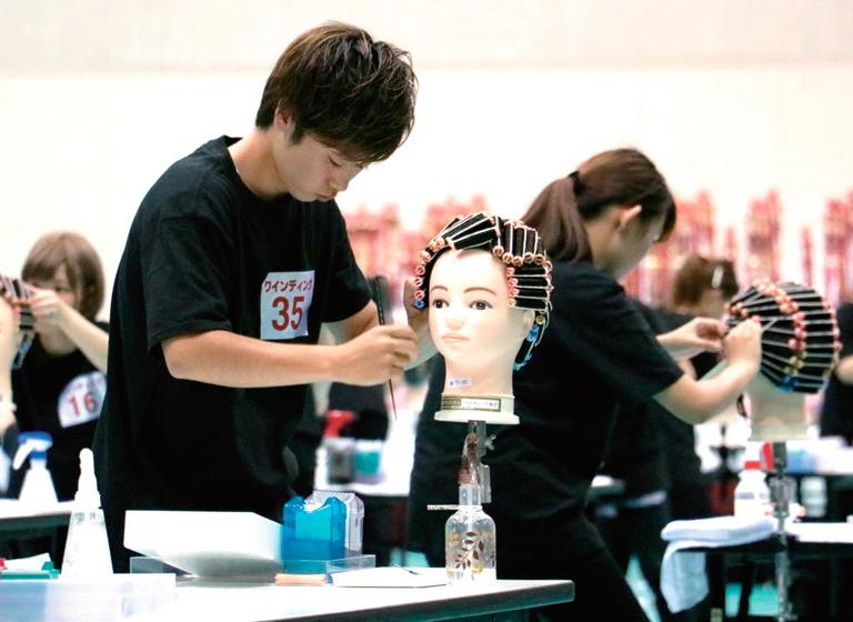 全国理容美容学生技術大会~理美容甲子園3