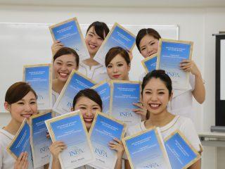 INFA国際ライセンスフェイシャルパスポート試験授与式の様子