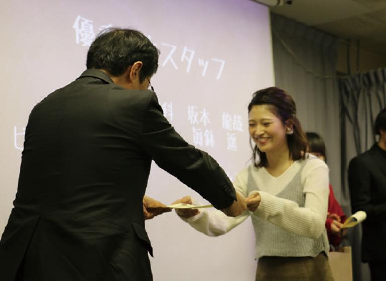 オープンキャンパス学生スタッフ卒業式
