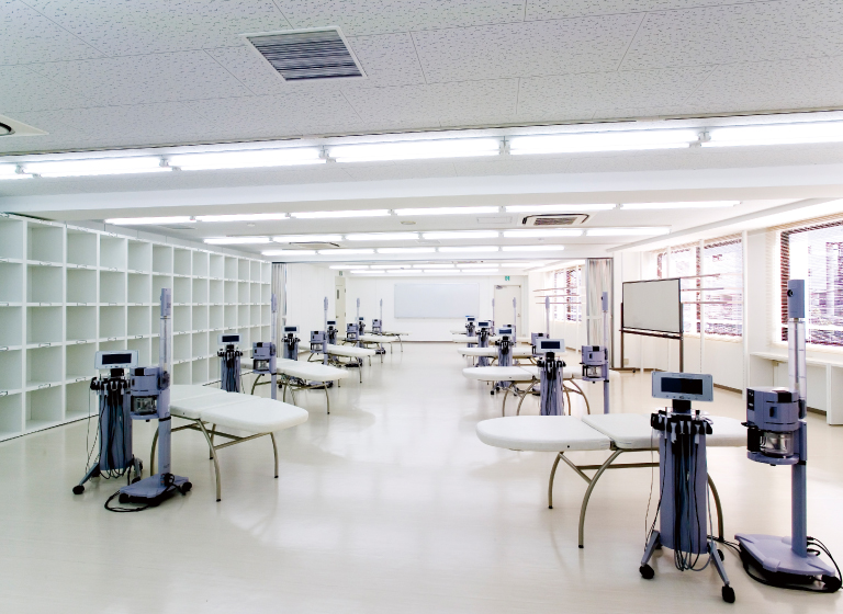 YIC京都ビューティのエステ実習室