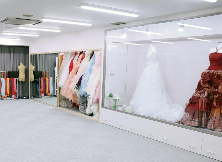 YIC京都ビューティの着付け室